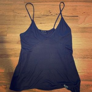 NEVER WORN Dark blue angled v neck tank top